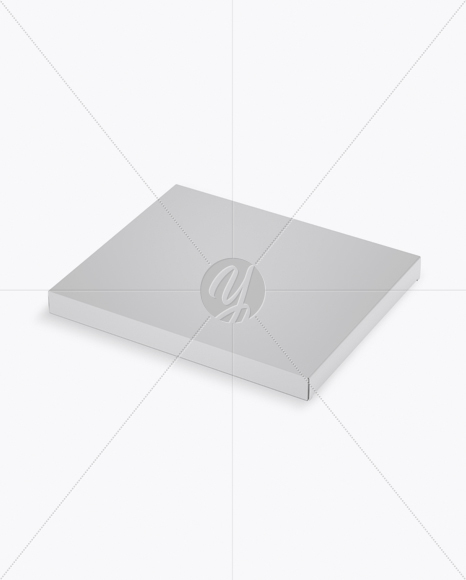 Matte Chocolate Box Mockup - Half Side View (High-Angle Shot)
