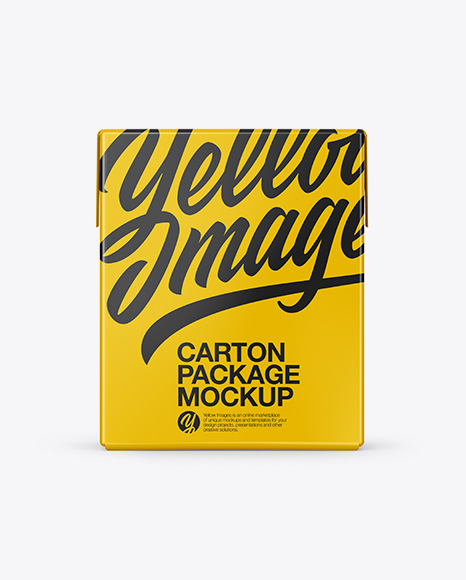 Download Carton Package Mockup - Front & Side Views Object Mockups