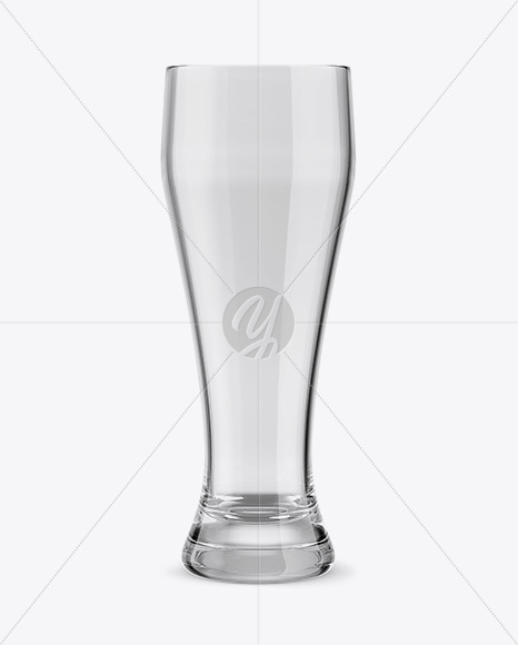 Empty Weizen Beer Glass Mockup