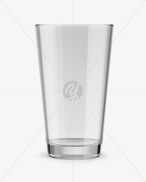 Empty Beer Glass Mockup