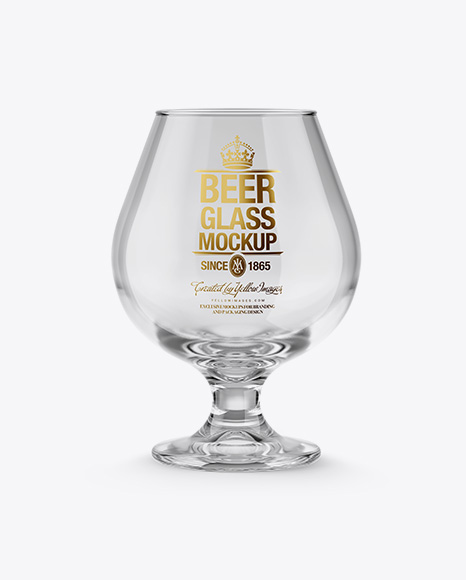 Empty Snifter Glass Mockup