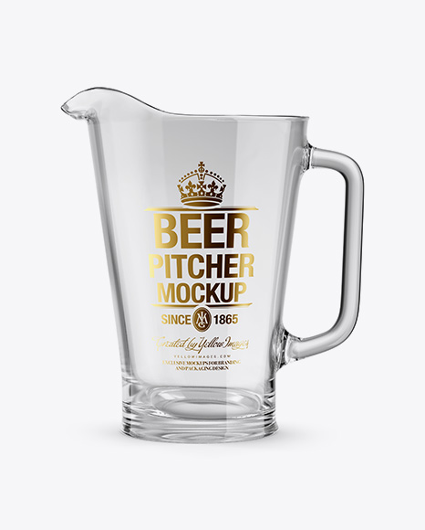 Empty Glass Pitcher Mockup