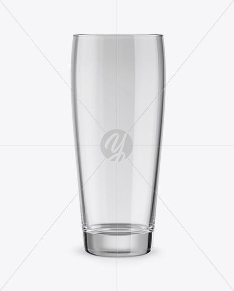 Empty Willi Becher Glass Mockup