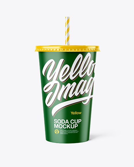 Download Free Matte Plastic Soda Cup Mockup - Front View PSD Template