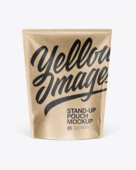 Download Kraft Stand Up Pouch Mockup PSD - Free PSD Mockup Templates