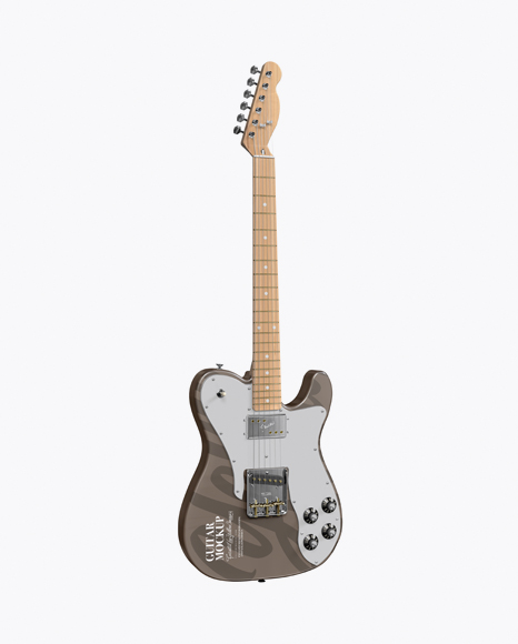 Download Electric Guitar with Wooden Fingerboard Mockup - Half Side View Object Mockups