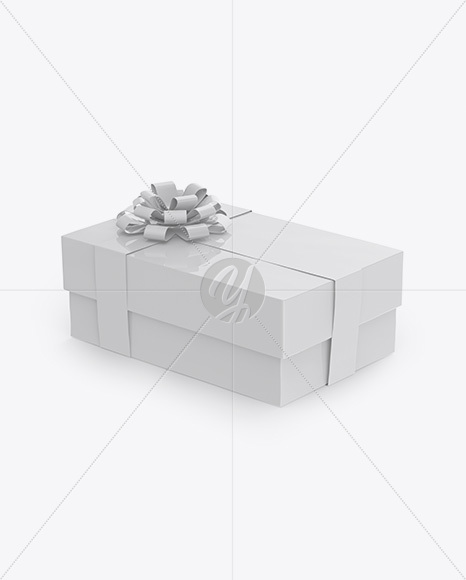Download Glossy Gift Box Mockup Front View PSD - Free PSD Mockup Templates