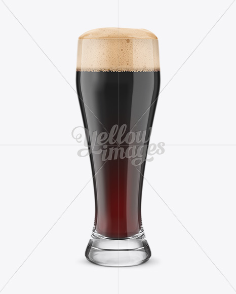 Weizen Glass with Stout Beer Mockup