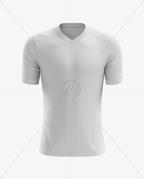 Men's Soccer V-Neck Jersey mockup (Front View)