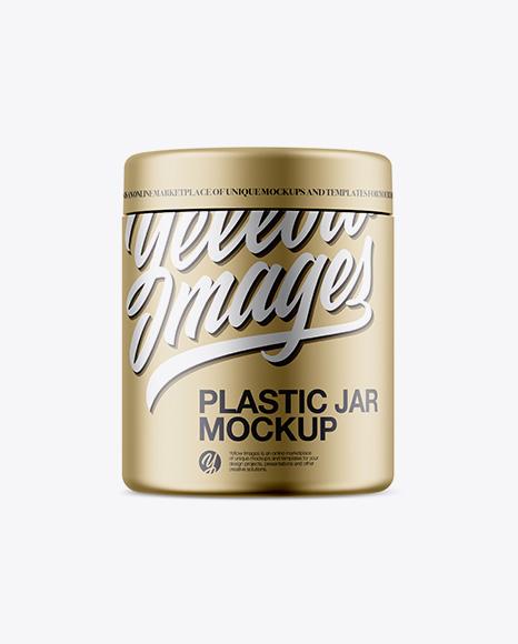 Download Free Matte Metallic Plastic Jar Mockup PSD Template