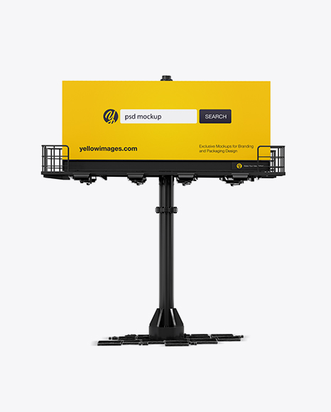 Billboard Mockup - Front View