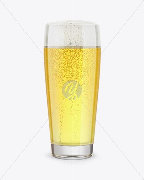 Willi Becher Glass With Pilsner Beer Mockup
