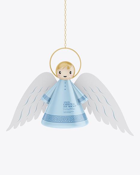 Glossy Christmas Angel Toy Mockup