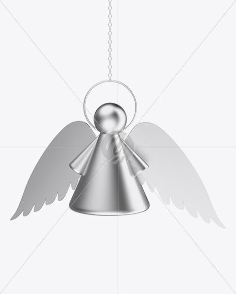 Metallic Christmas Angel Toy Mockup