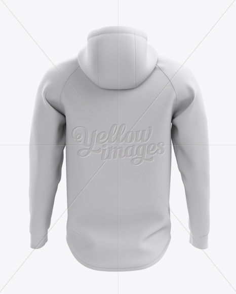 Men's Pullover Hoodie Mockup (Back View)