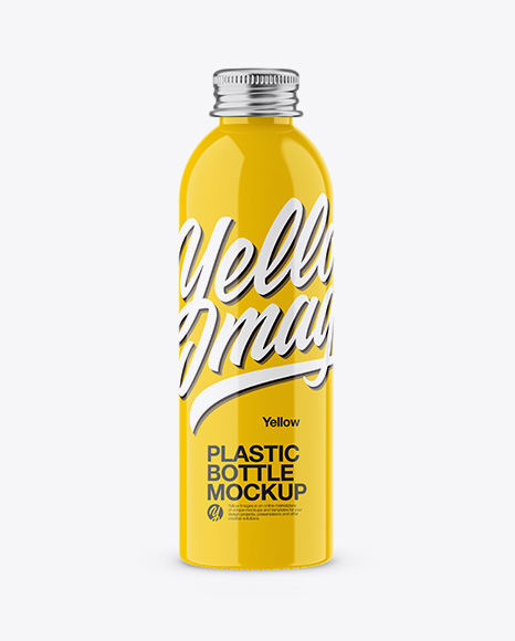Download Free Glossy Plastic Bottle Mockup PSD Template