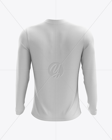Men's Soccer V-Neck Jersey LS mockup (Back View)