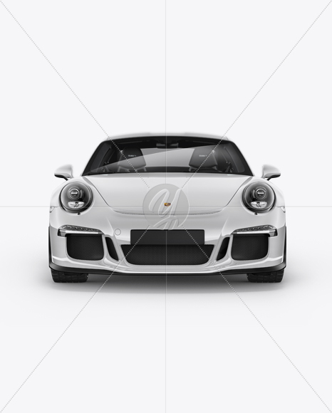 Porsche 911 R Mockup , Front View in Vehicle Mockups on