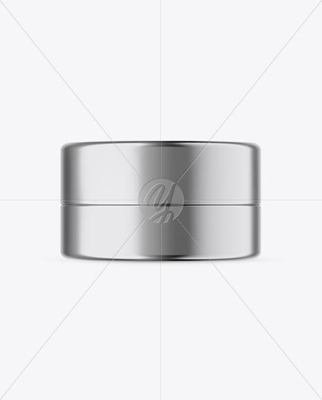 Download Matte Metallic Cosmetic Jar Mockup Top View PSD - Free PSD Mockup Templates