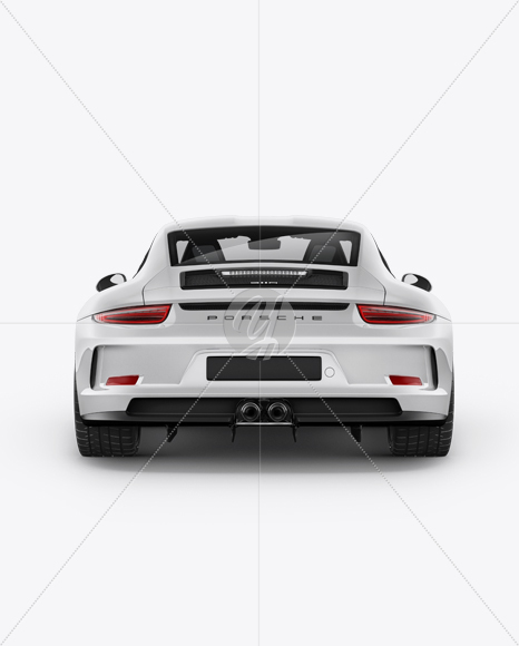Porsche 911 R Mockup Back View In Vehicle Mockups On Yellow Images