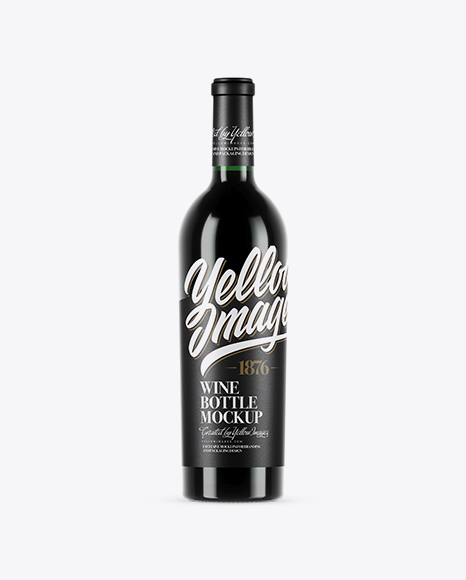 Download 750ml Green Glass Red Wine Bottle Mockup Object Mockups
