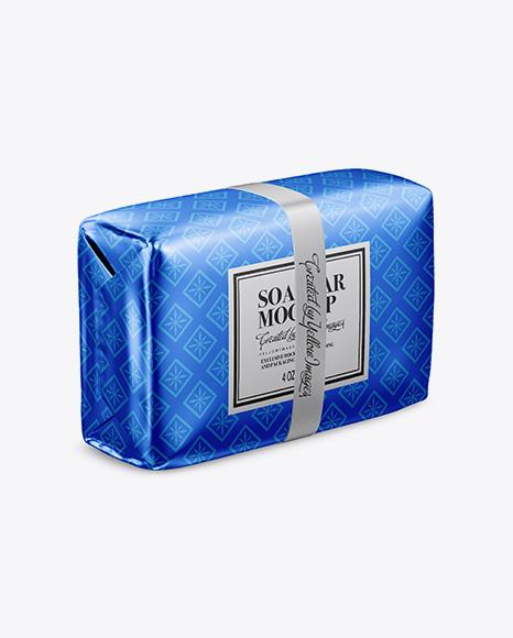 Download Metallic Soap Bar Package Mockup Half Side View PSD - Free PSD Mockup Templates