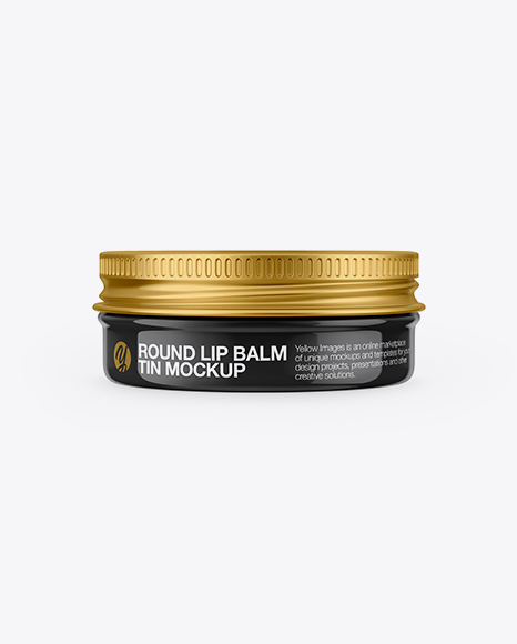 Download Glossy Lip Balm Tin Mockup - Front View Object Mockups