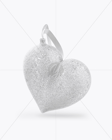 Сhristmas Chocolate Foil-Wrapped Heart  Mockup - Front View