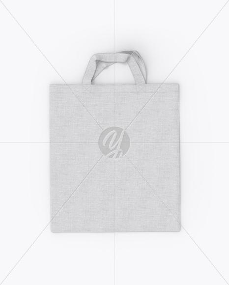 Canvas Bag Mockup - Top View