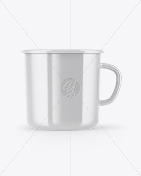 Glossy Enamel Cup Mockup