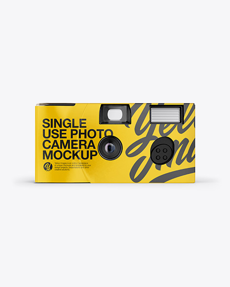 Disposable Camera Mockup - Front View