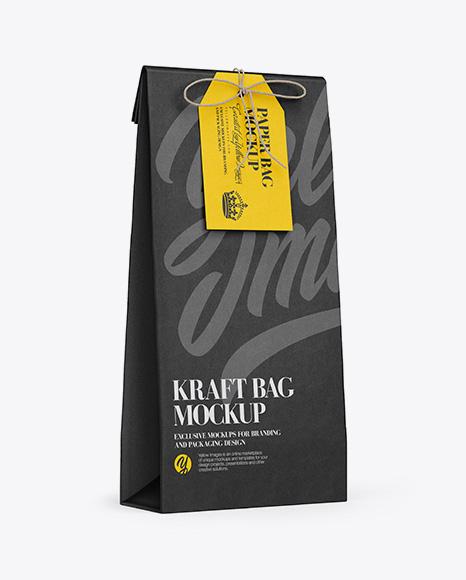 Download Download Kraft Paper Bag W/ Label Mockup - Half Side View ...