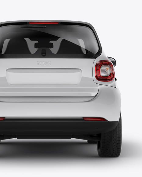 Smart Fortwo PSD Mockup Back View 27.48MB