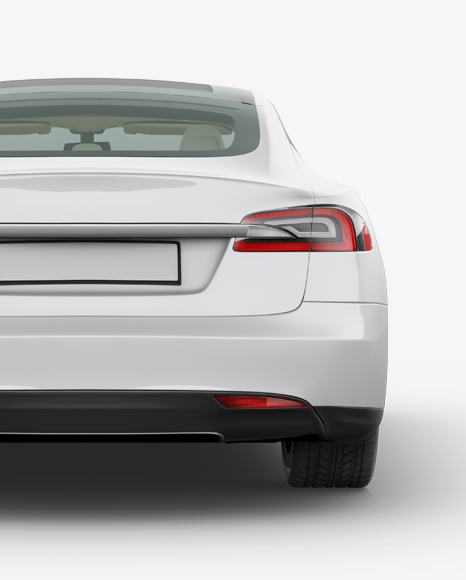 Tesla Model S Mockup - Back View