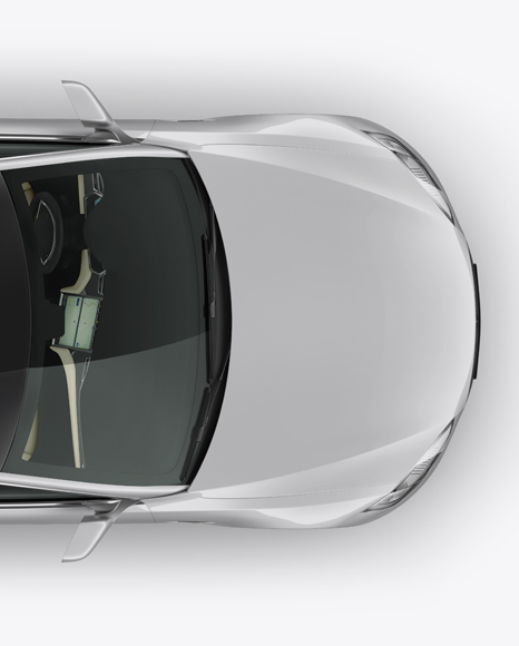 Tesla Model S Mockup - Top View