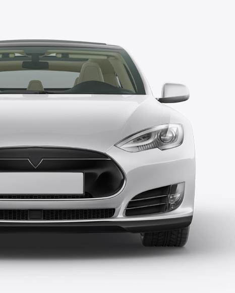 Tesla Model S Mockup - Front View