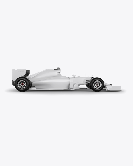 Download Formula One Car Mockup Right Side View In Vehicle Mockups On Yellow Images Object Mockups PSD Mockup Templates