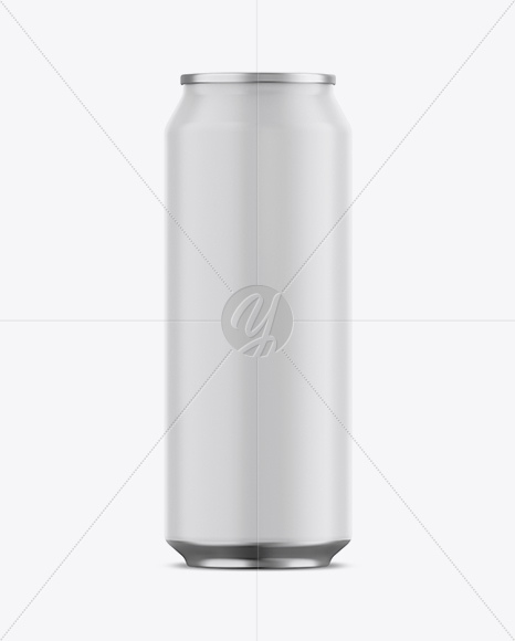 Download 500ml Matte Aluminium Can Condensation Mockup Front View PSD - Free PSD Mockup Templates