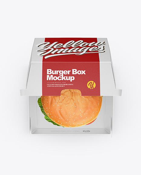 Burger Box Mockup - Top View