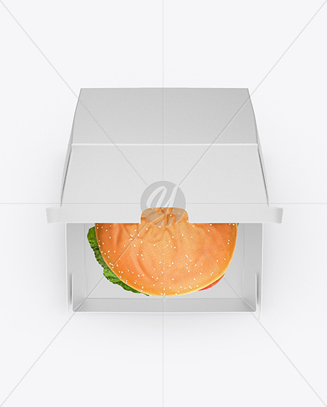 Burger Box Mockup - Top View