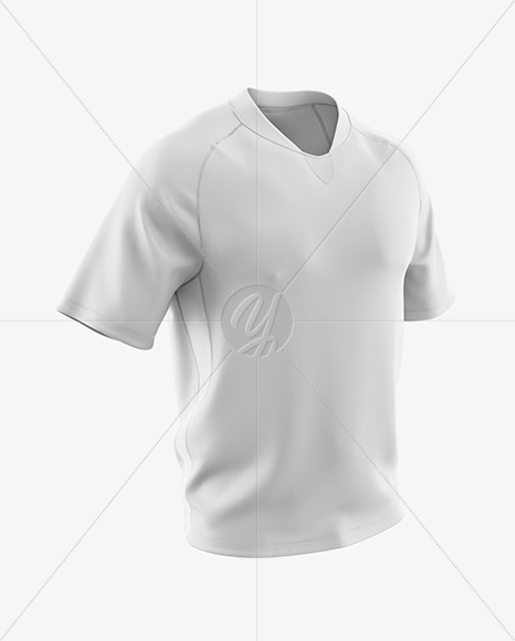 Men's T-Shirt HQ Mockup - Half Side View