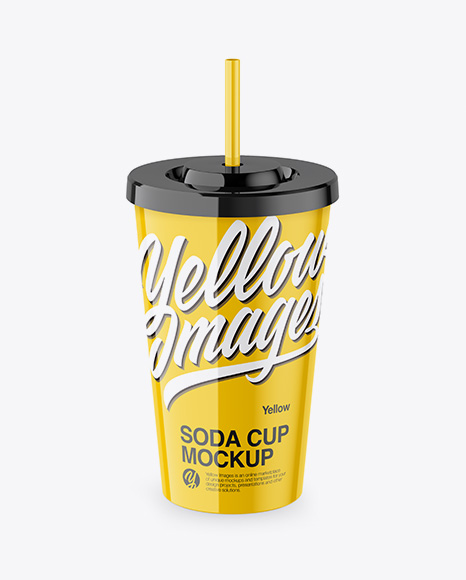 Soda Cup - Front & High Angle Shot