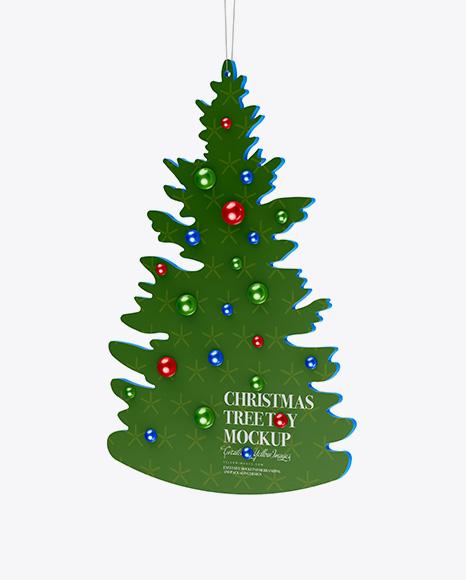 Glossy Christmas Tree Toy Mockup