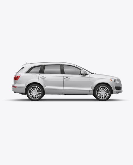 Download Audi Q7 Mockup - Side View Object Mockups