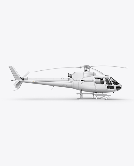 Eurocopter AS350 Mockup Right Side View