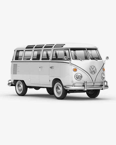 Volkswagen Transporter T1 Mockup Front 3/4 View