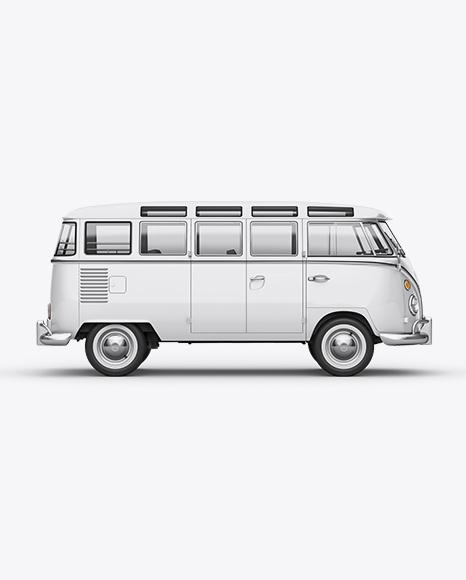 Volkswagen Transporter T1 Mockup Right Side View