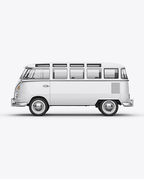 Volkswagen Transporter T1 Mockup Left Side View