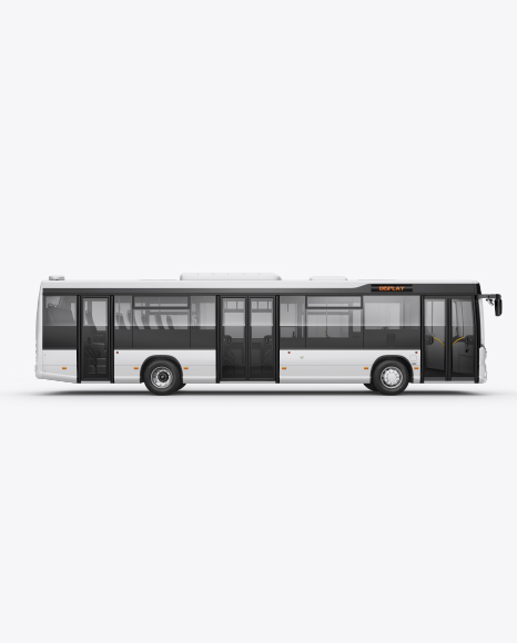 City Bus HQ Mockup Right Side View