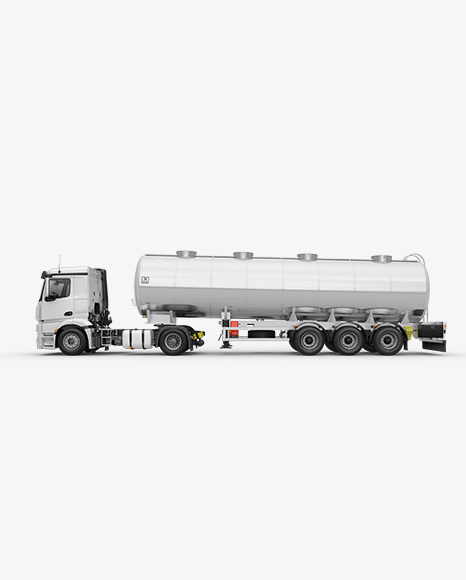 Tank Truck HQ Mockup Left Side View